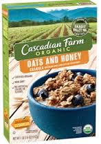 Cascadian Farm Organic Cereal Oats & Honey Granola