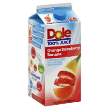 Dole 100% Orange Strawberry Banana Juice