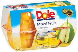 Dole Mixed Fruit Cups 4 ct