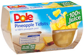 Dole Pineapple Tidbits Fruit Cups 4 ct