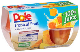 Dole Tropical Fruit Cups 4 ct