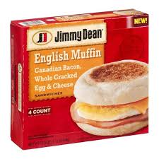 Jimmy Dean Canadian Bacon Egg & Cheese English Muffin