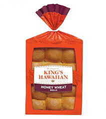 King's Hawaiian Honey Wheat Rolls