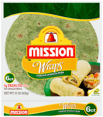 Mission Wraps-Spinach Herb