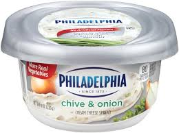 Kraft Philadelphia Cream Cheese-Chive & Onion