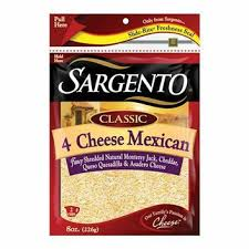 Sargento Shredded-4 Cheese Mexican